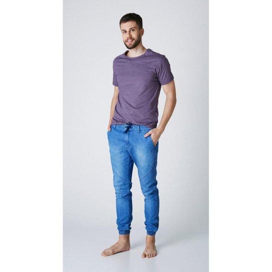 Calça jeans express jogger derick - Azul