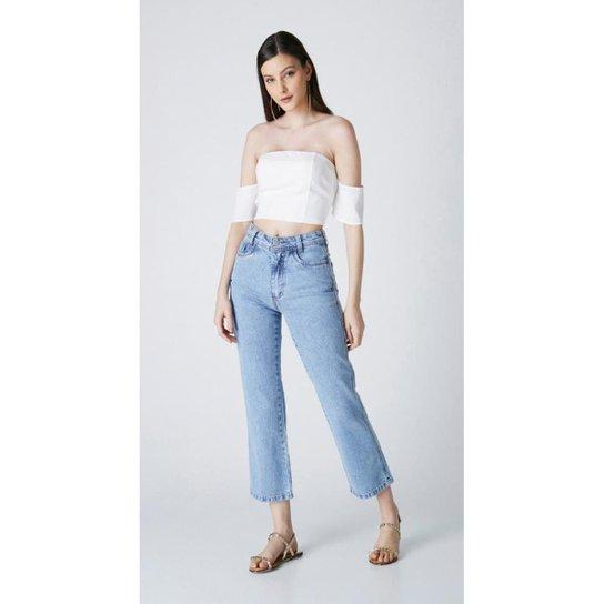 Calça Jeans Express Mom Carmela - Azul