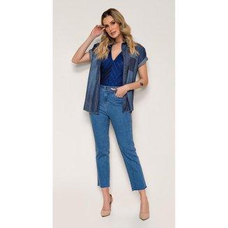 Calça Jeans Express Mom Cenoura Tassia