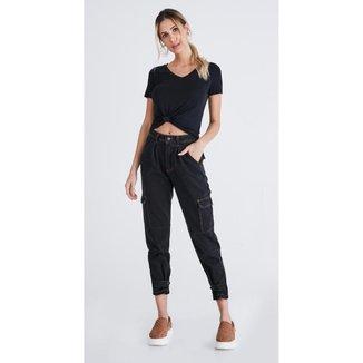 Calça Jeans Express Mom Lua
