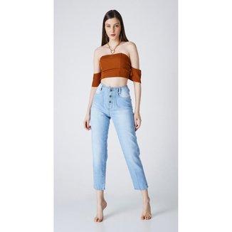 Calça jeans express mom mabel