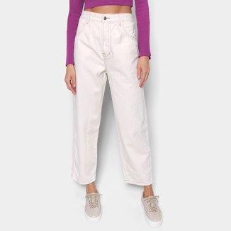 Calça Jeans Farm Semi Baggy Cintura Alta Feminina
