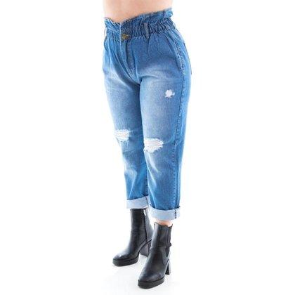 Calça Jeans Feminina Arauto Modelagem Mom