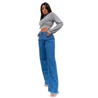Calça Jeans Feminina Consciência Mom Wide 20745