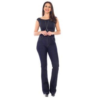 Calça jeans feminina flare boot cut
