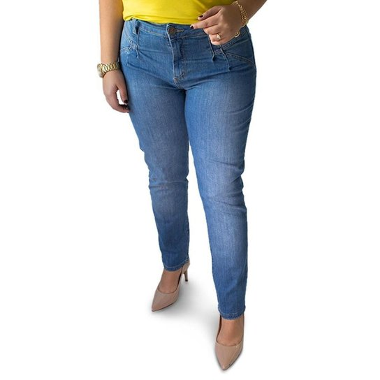 Calça Jeans Feminina Modelo Mom Cintura Alta Anticorpus - Única