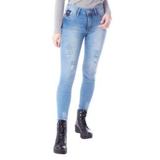 Calça Jeans Feminina TM Denim Cigarrete Azul Claro