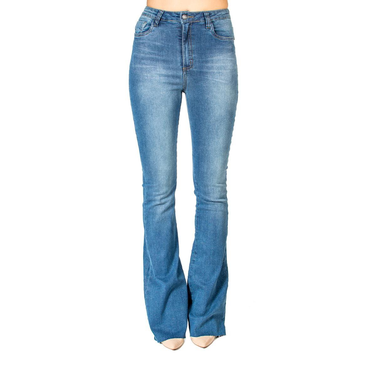 27a3603ee Calça Jeans Flare Barra Desfiada Handbook - Azul | Zattini