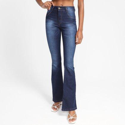 Calça Jeans Flare Biotipo Cintura Alta Feminina