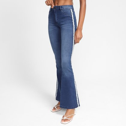 Calça Jeans Flare Biotipo Faixa Lateral Feminina