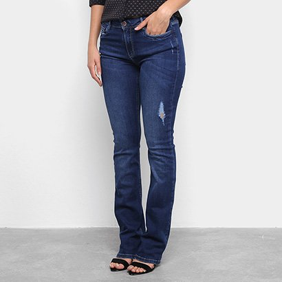 Calça Jeans Flare Carmim Feminina