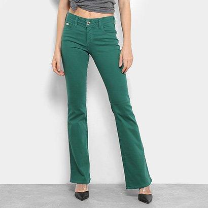 19a570c33 Calça Jeans Flare Colcci Sarja Cintura Média Feminina-Feminino