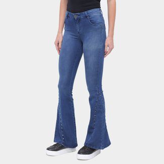 Calça Jeans Flare Enfim Lisa Feminina