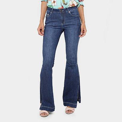 1dd41c327d Calça Jeans Flare Gup s Jeans Fendas Cintura Média Feminina - Compre Agora