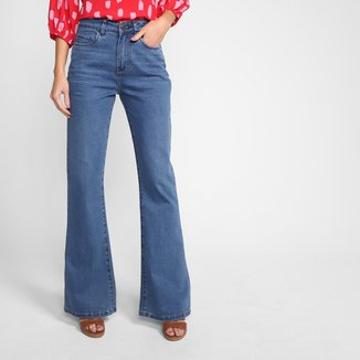 Calça Jeans Flare Hering Cintura Alta Feminina