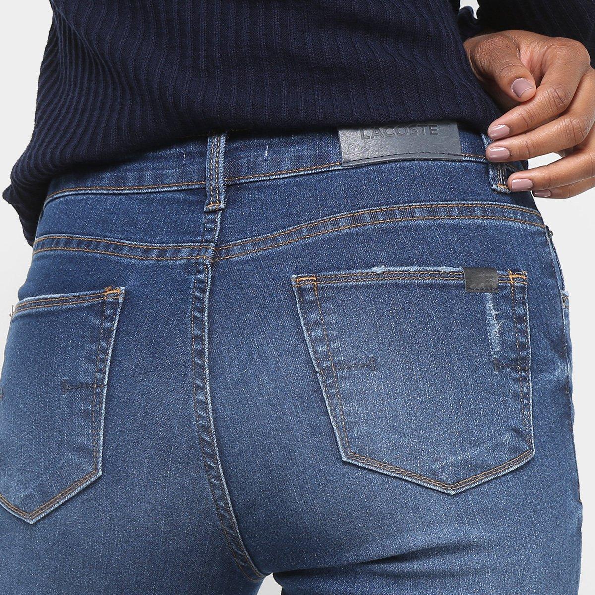 Calça Jeans Flare Lacoste Estonada Cintura Alta Feminina - Compre ... 92512e4784