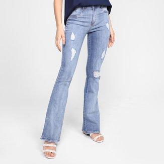 Calça Jeans Flare Lança Perfume Estonada Feminina