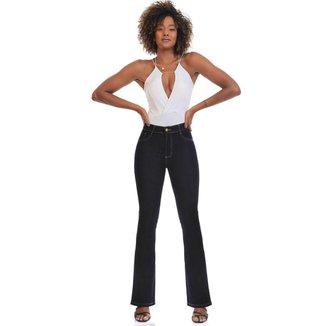 Calça jeans flare Sawary feminina