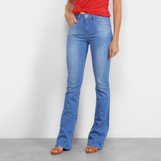 Calça Jeans Forum Flare Boot Cut Cintura Média Feminina - Azul Claro |  Zattini