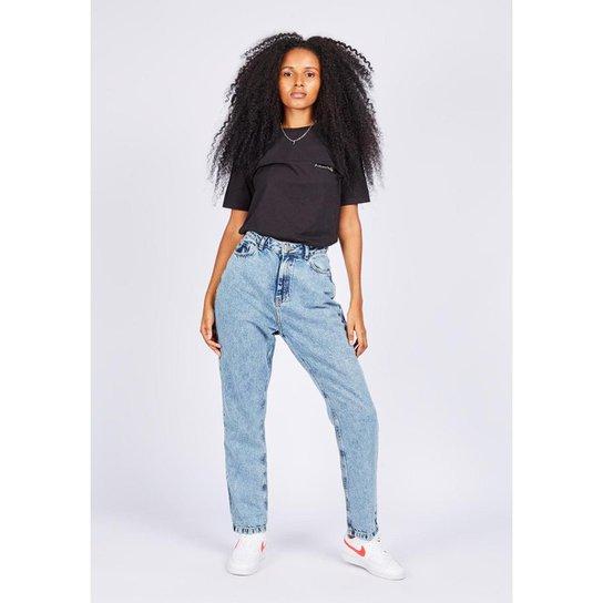 Calça Jeans Gang Mom Feminina - Azul