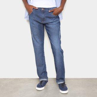 Calça Jeans Grifle Básica Com Puídos Masculina
