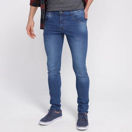 Calça Jeans Grifle Estonada Skinny Masculina
