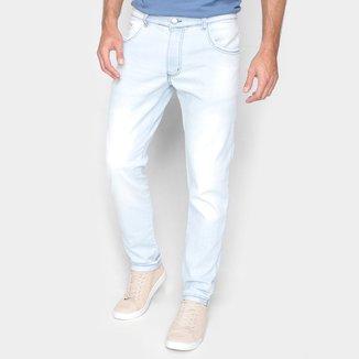 Calça Jeans Grifle Lavagem Clara Skinny Masculina
