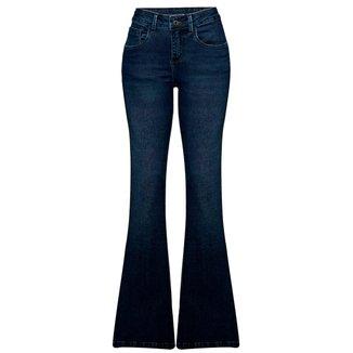 Calça Jeans Hering Flare Com Lavação Estonada Feminina