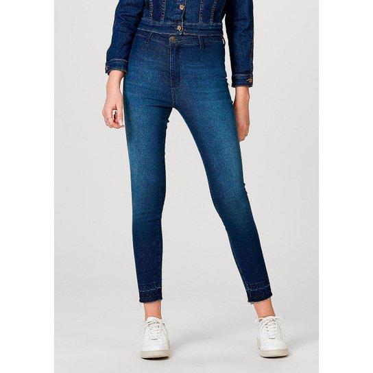 Calça Jeans Hering Jegging Sem Costuras Laterais Feminina - Azul