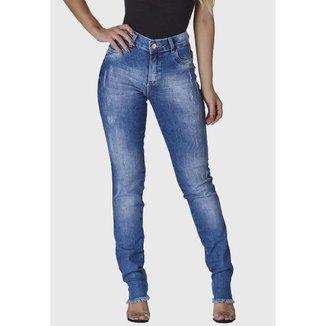 Calça Jeans HNO Skinny c/ barra Desfiada Feminina