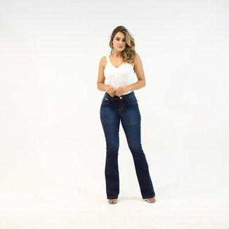 Calça Jeans Imporium Flare Cintura Média Cós Médio Feminino