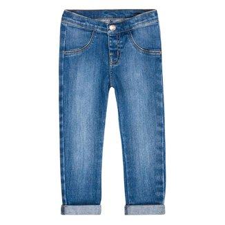 Calça Jeans Infantil Feminina Barra Dobrada Play Jeans Hering Kids