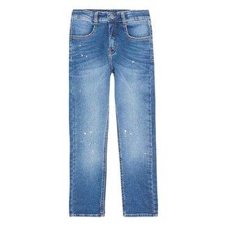 Calça Jeans Infantil Feminina Com Respingos Play Jeans Hering Kids