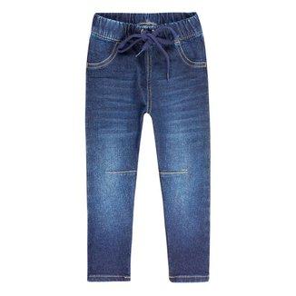 Calça Jeans Infantil Feminino Com Amarração Play Jeans Hering Kids
