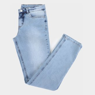 Calça Jeans Infantil Malwee Lisa Feminina