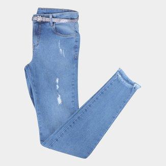 Calça Jeans Infantil Malwee Skinny Desfiada Feminina