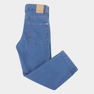 Calça Jeans Infantil Malwee Slim Básica Feminina
