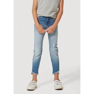 Calça Jeans Infantil Menina Barra Assimétrica Kids - C5E91ASN3 Hering Feminina