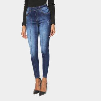 Calça Jeans Jezzian Skinny Estonada Feminina