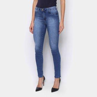 Calça Jeans Just Denim Skinny Puídos Feminina