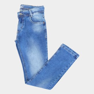 Calça Jeans Juvenil Gangster Cintura Média Masculina