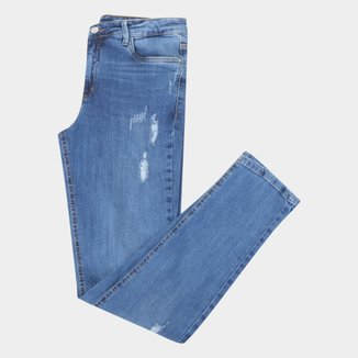 Calça Jeans Juvenil Malwee Skinny Destroyed Feminina