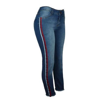 Calça Jeans Knt Stripe-Feminino