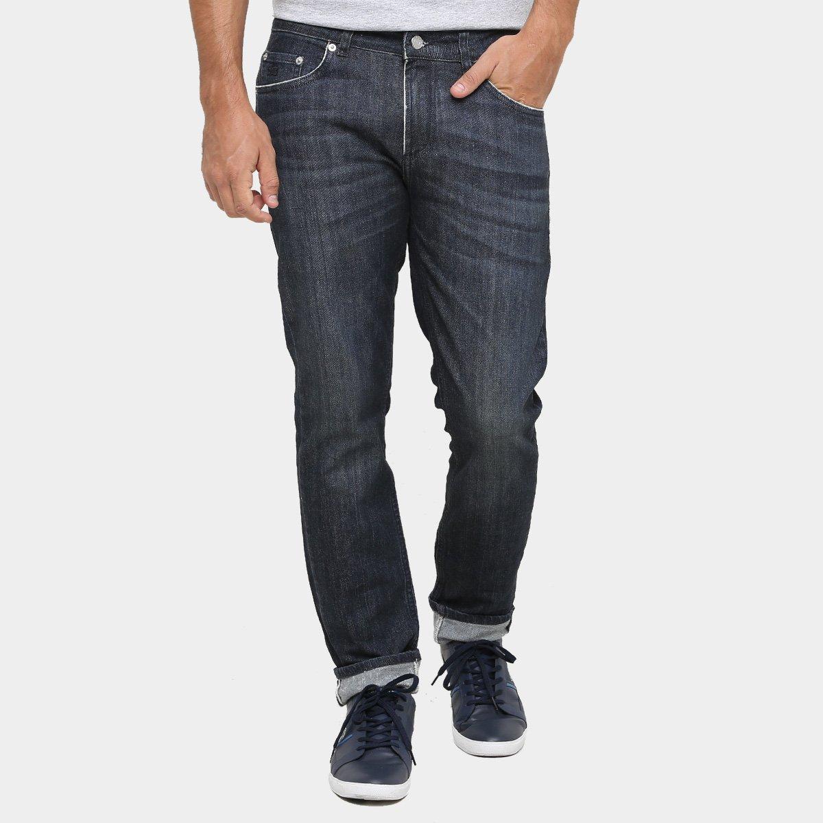 Calça Jeans Lacoste Skinny Escura - Compre Agora   Zattini fbd65297e5