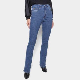 Calça Jeans Lança Perfume Bootcut Cintura Alta Feminia