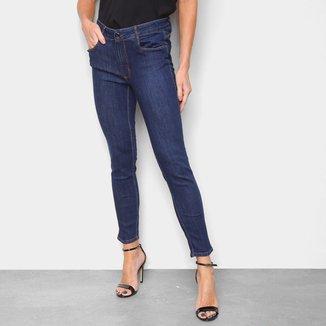 Calça Jeans Lança Perfume Skinny Cintura Média Lisa Feminina