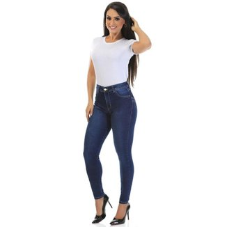 Calça jeans levanta bumbum Sawary feminina