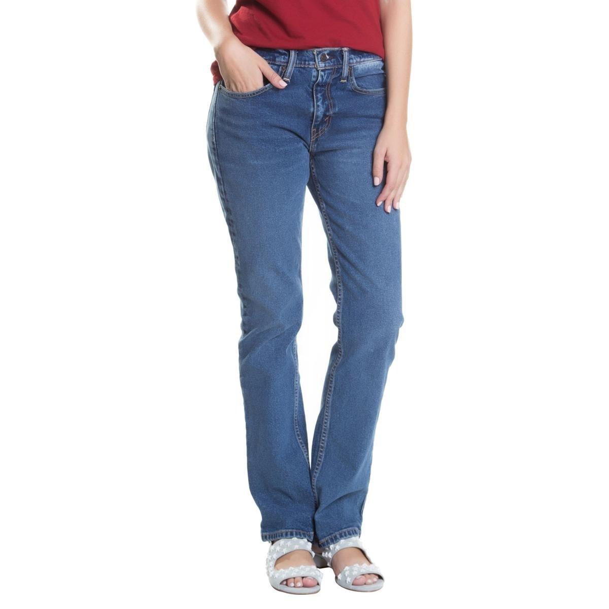 fbaa003f2 Calça Jeans Levi s 514 Straight Feminina - Compre Agora