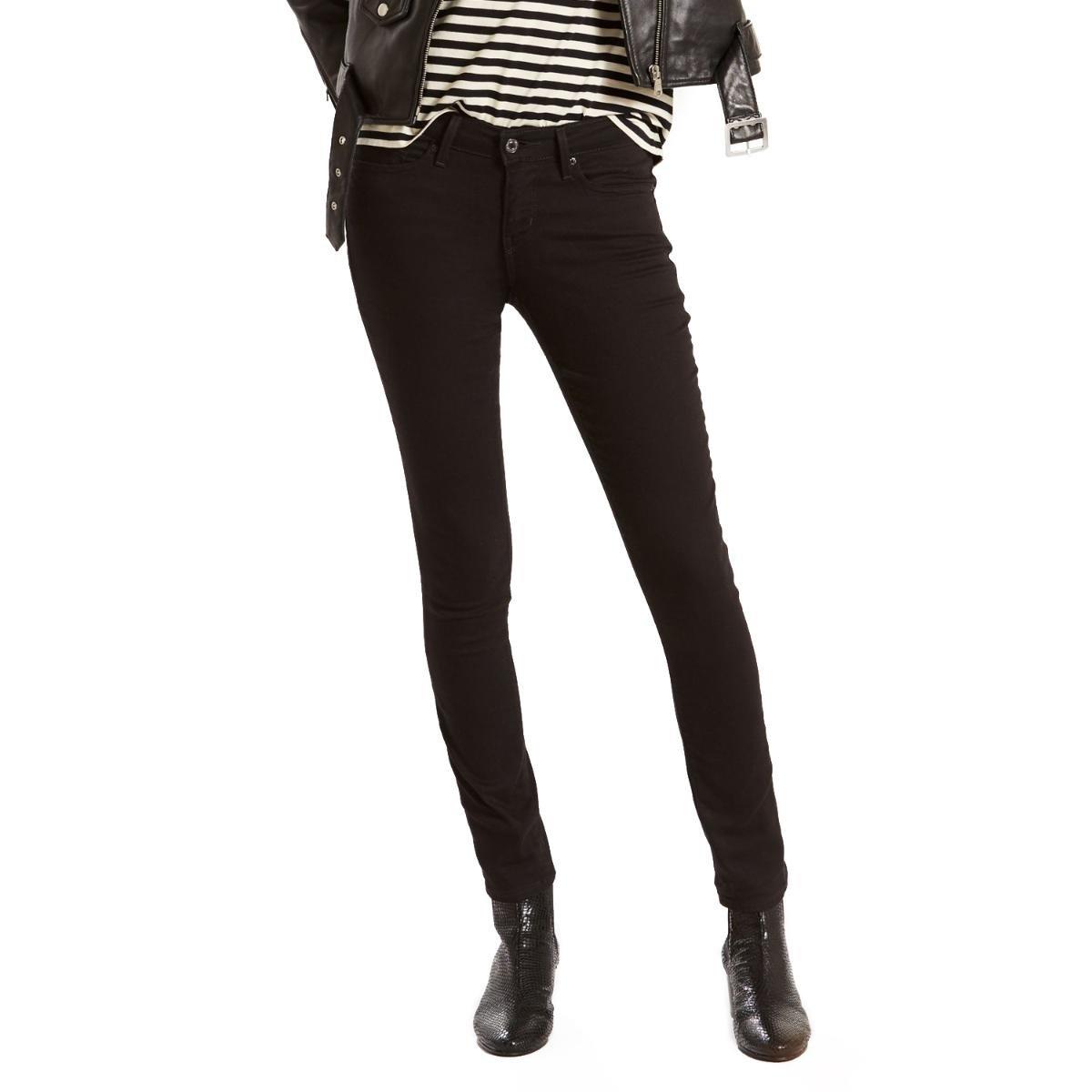 Calça Jeans Levis 711 Skinny Feminina - Preto - Compre Agora  22aa18d6732