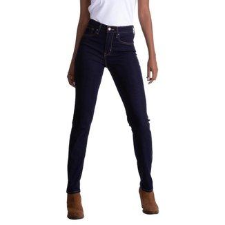 Calça Jeans Levis 724 High Rise Straight Escuro Feminina
